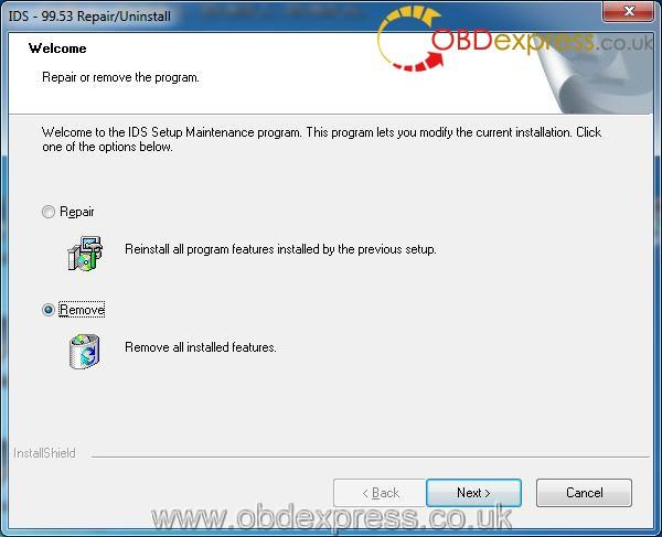 ford ids | OBDII Info software FAQ